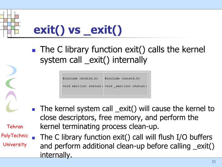 exit() vs _exit()