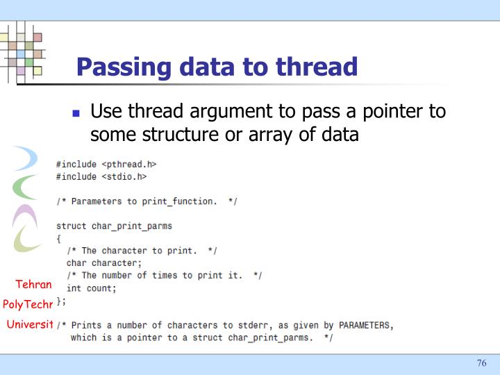 Passing data to thread