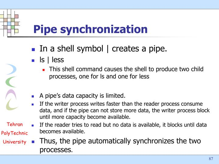 Pipe synchronization