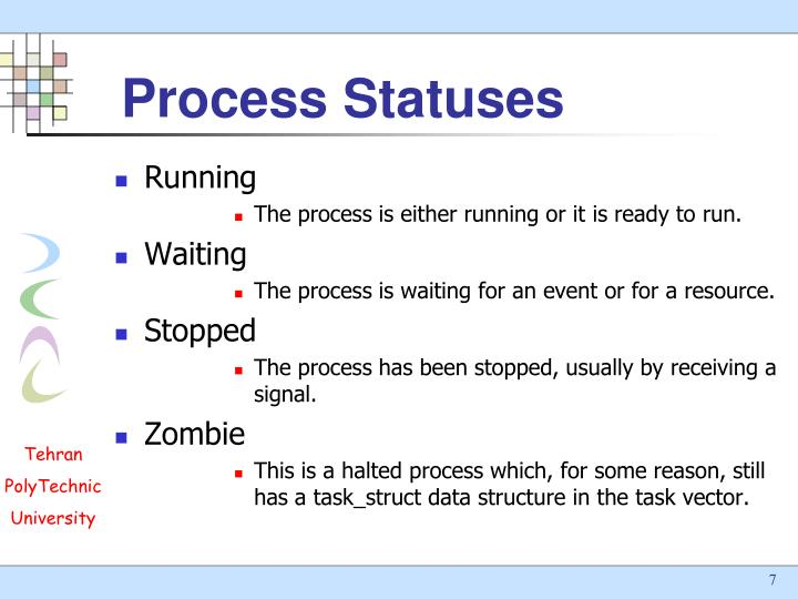 Process Statuses