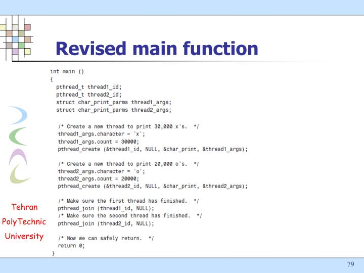 Revised main function
