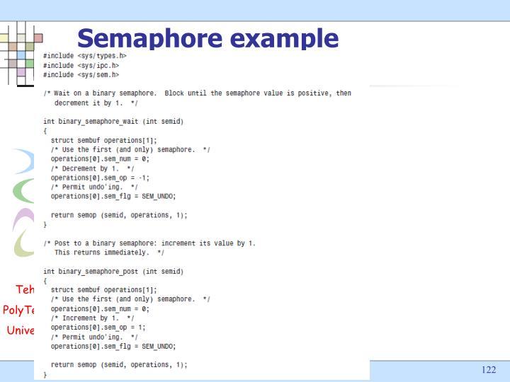 Semaphore example