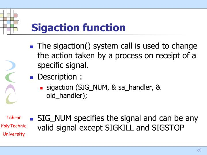 Sigaction function