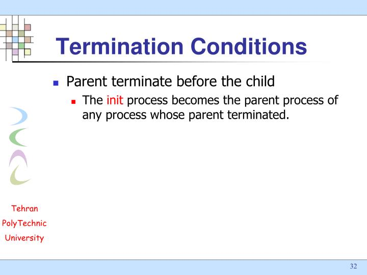 Termination Conditions