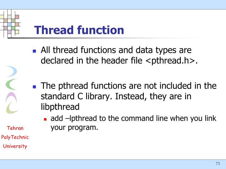 Thread function