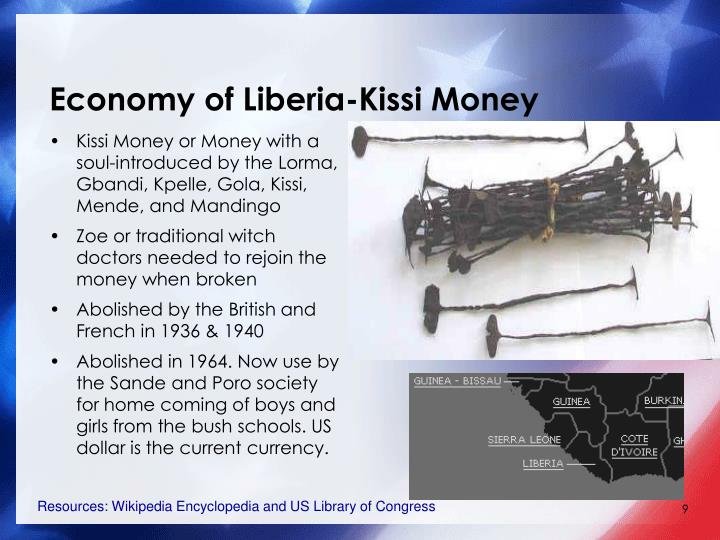 Economy of Liberia-Kissi Money