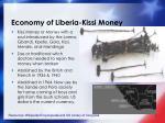 economy of liberia kissi money