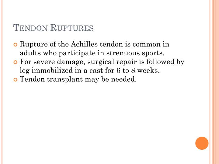 Tendon Ruptures