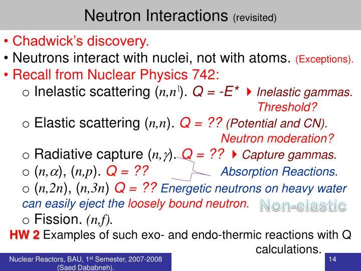 Neutron Interactions