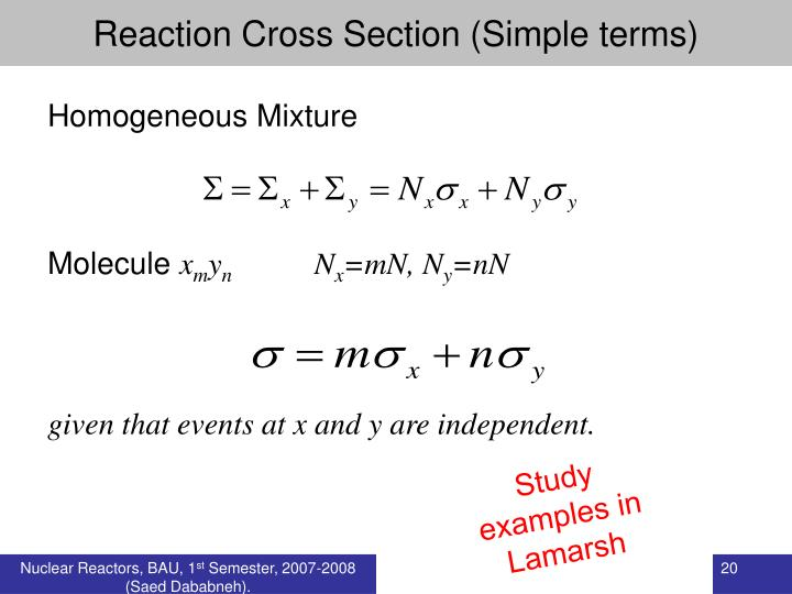 Reaction Cross Section (Simple terms)