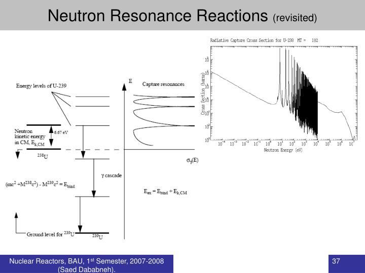 Neutron Resonance Reactions