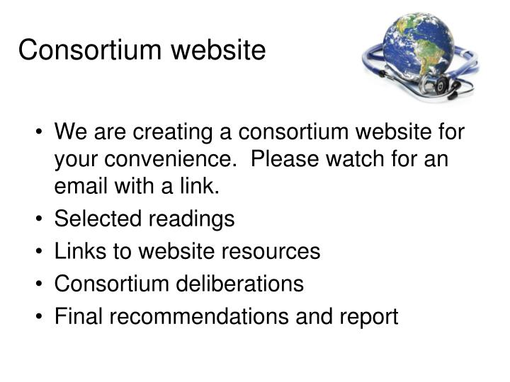 Consortium website