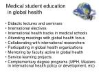 medical student education in global health