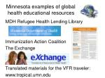 minnesota examples of global health educational resources