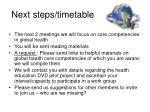 next steps timetable1