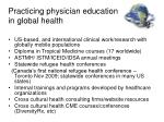 practicing physician education in global health