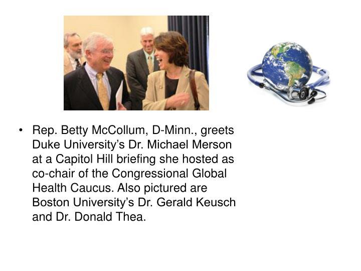 Rep. Betty McCollum, D-Minn., greets