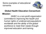 some examples of educational consortia1
