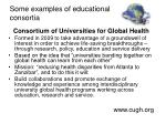 some examples of educational consortia2