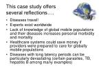 this case study offers several reflections