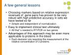 a few general lessons