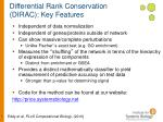 differential rank conservation dirac key features