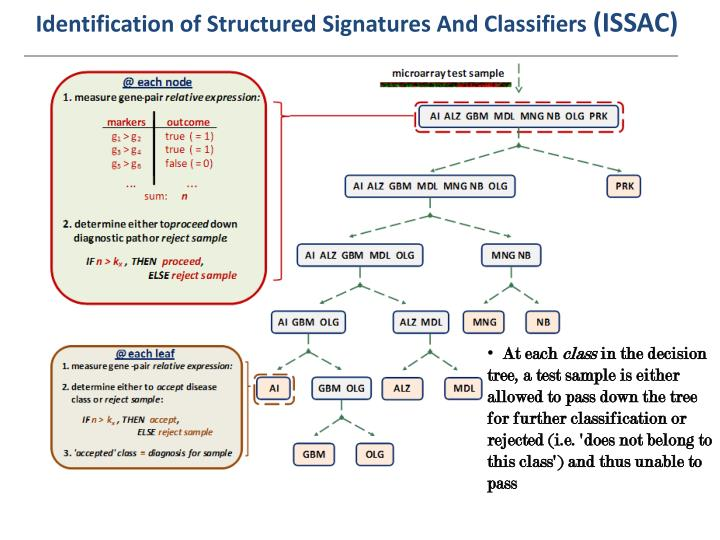 Identification of Structured Signatures And Classifiers
