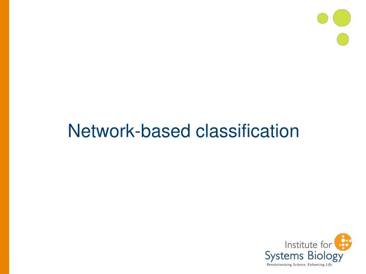 Network-based classification