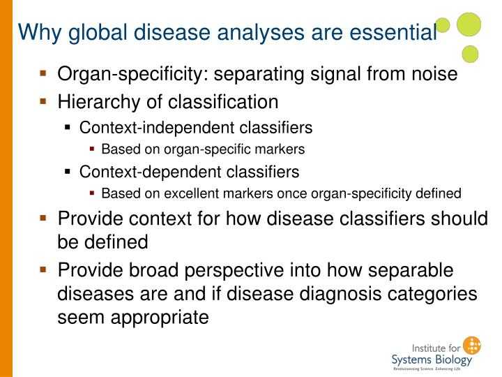 Why global disease analyses are essential