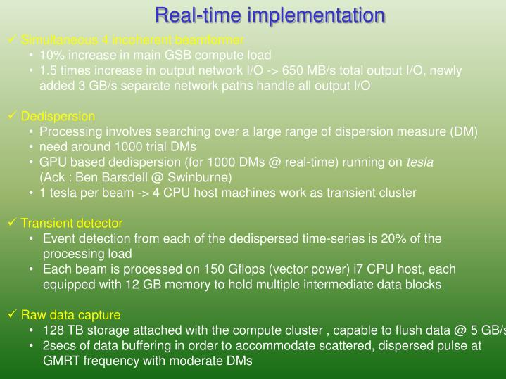 Real-time implementation