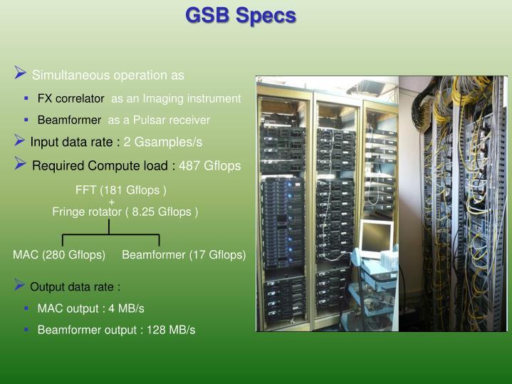 GSB Specs