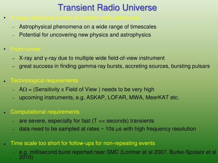 Transient Radio Universe