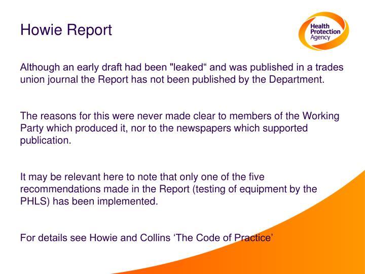 Howie Report