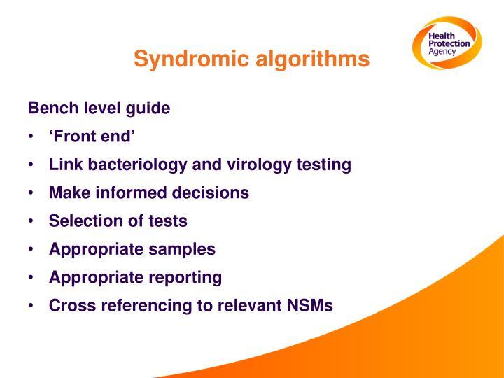 Syndromic algorithms