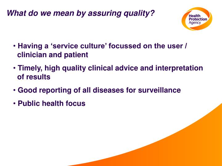 What do we mean by assuring quality?