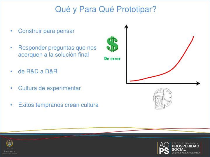 Qué y Para Qué Prototipar?