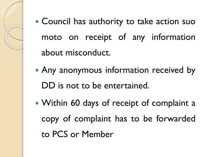 Council has authority to take action