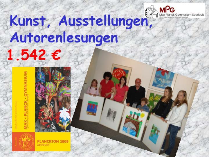 Kunst, Ausstellungen, Autorenlesungen