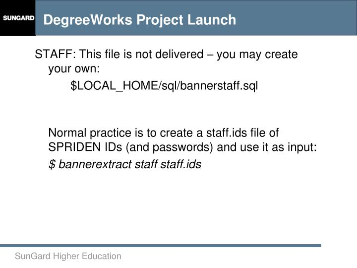 STAFF: This file is not delivered – you may create your own: