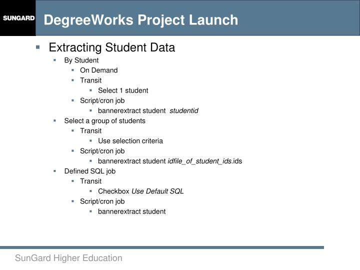 Extracting Student Data
