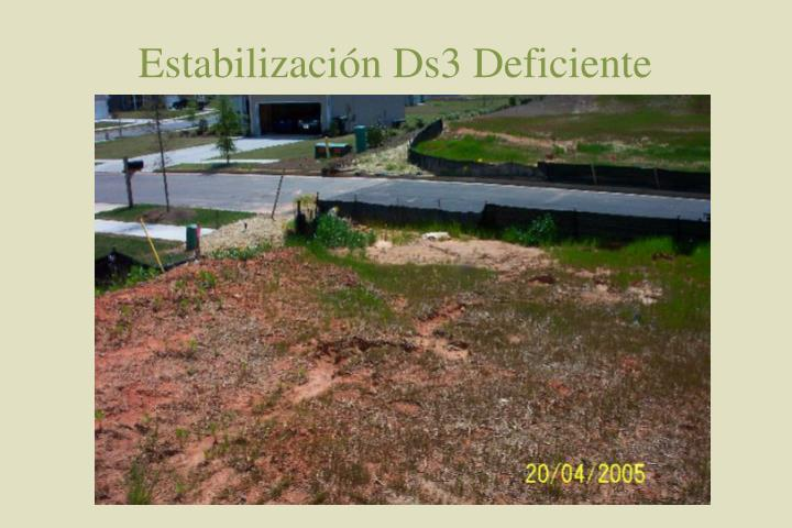 Estabilización Ds3 Deficiente
