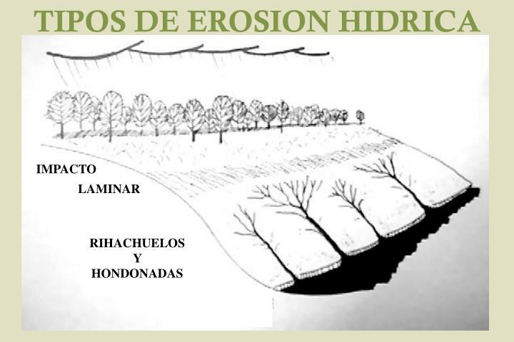 TIPOS DE EROSION HIDRICA