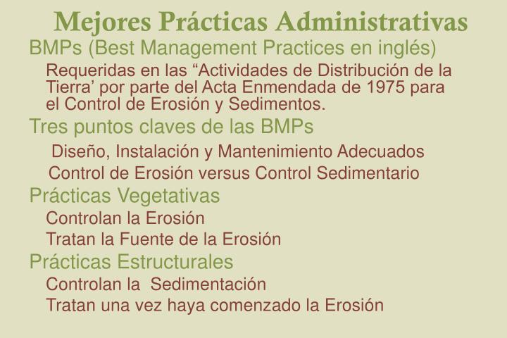 Mejores Prácticas Administrativas