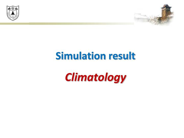 Simulation result