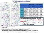 surface air temperature bias