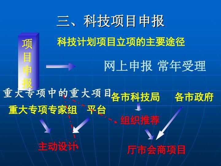 三、科技项目申报
