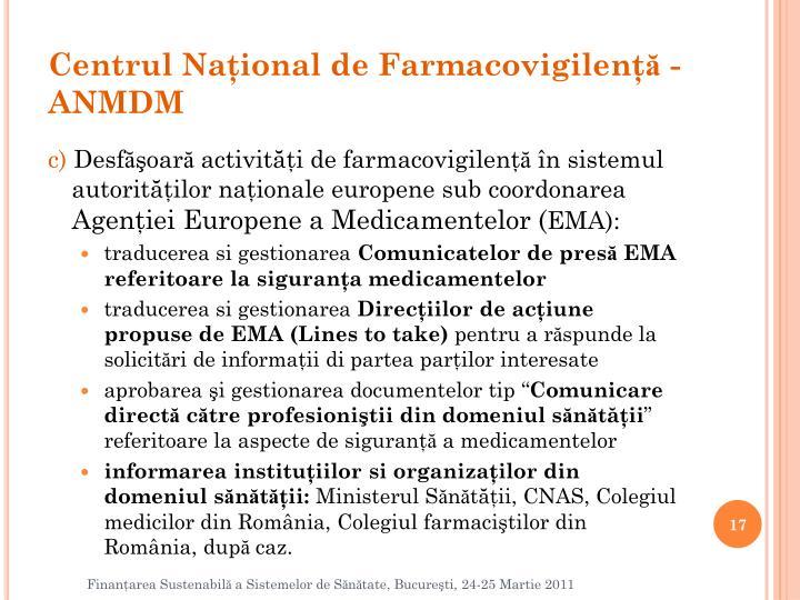 Centrul Naţional de Farmacovigilenţ