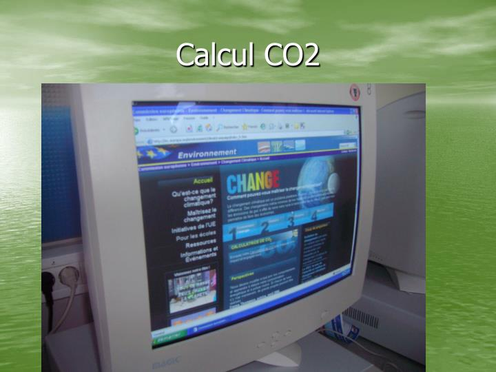 Calcul CO2