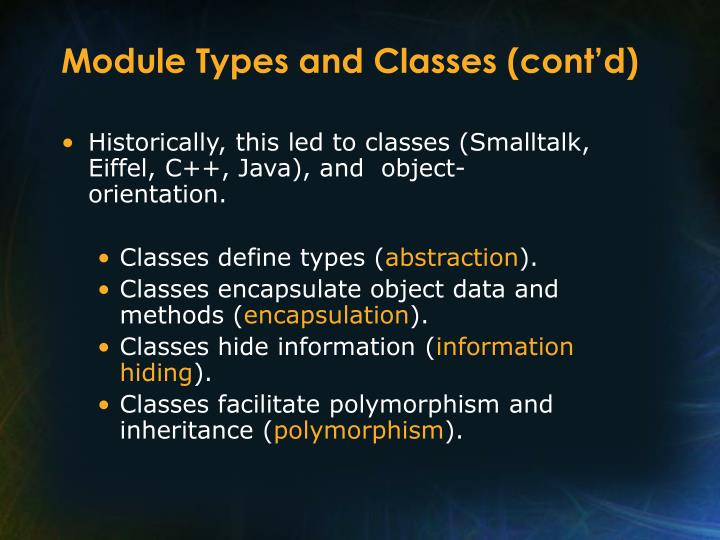 Module Types and Classes (cont'd)