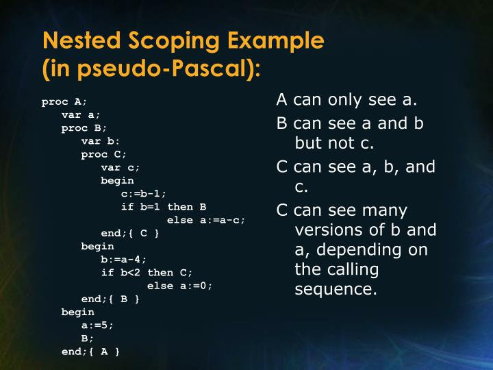 Nested Scoping Example